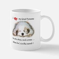 Great Pyrenees Mood Mug, Male Mugs