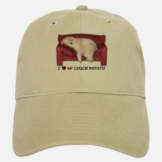 Great Pyrenees Baseball Baseball Cap I Love My Couch Potato