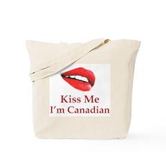 Kiss Canadian Tote Bag