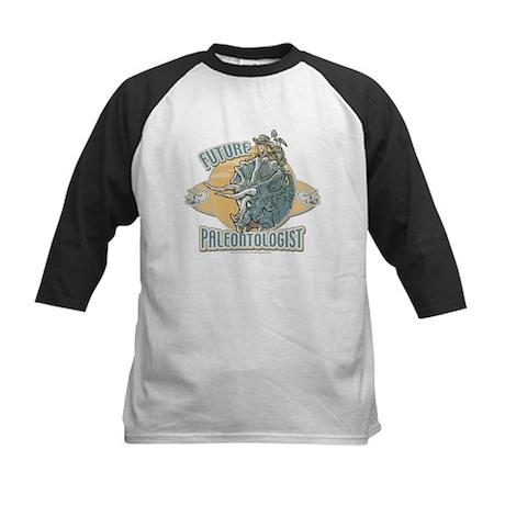 Girl Paleontologist Kids Baseball Jersey