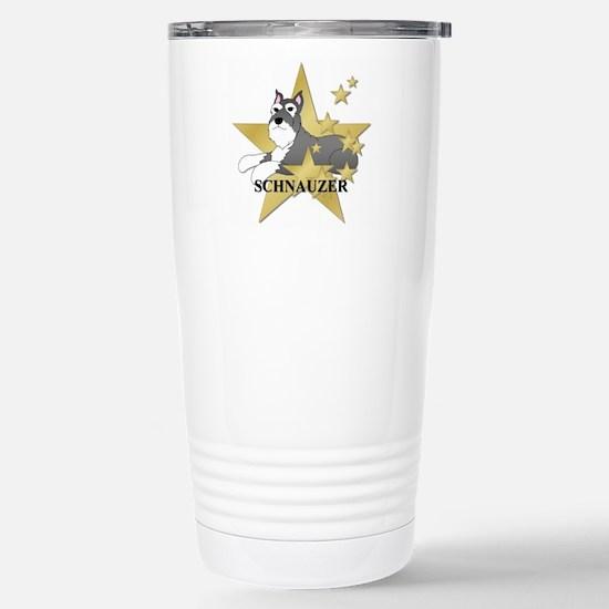 Schnauzer Stars Stainless Steel Travel Mug