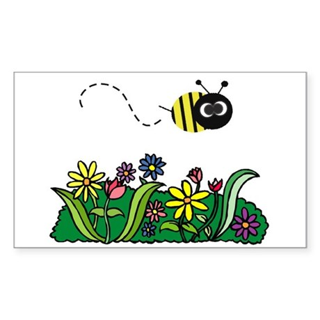Just Bee Rectangle Sticker
