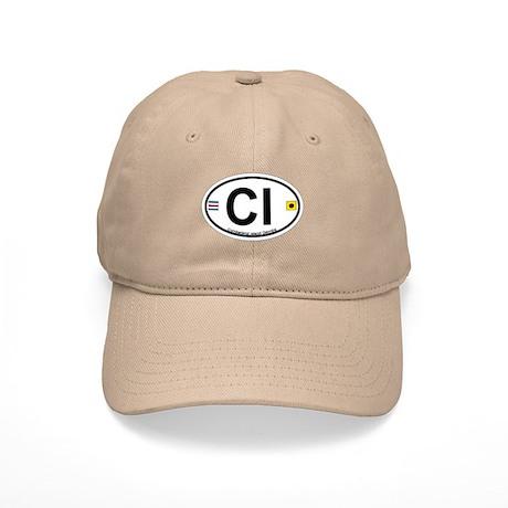 Cumberland Island GA - Oval Design. Cap