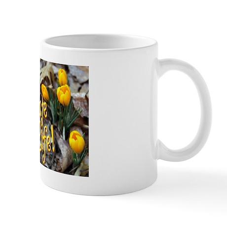 Yellow Crocus Mug - Celebrate Life