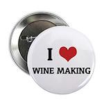 I Love Wine Making Button