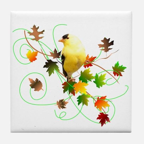 Goldfinch Tile Coaster
