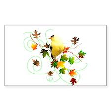 Goldfinch Rectangle Sticker 10 pk)