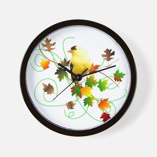 Goldfinch Wall Clock