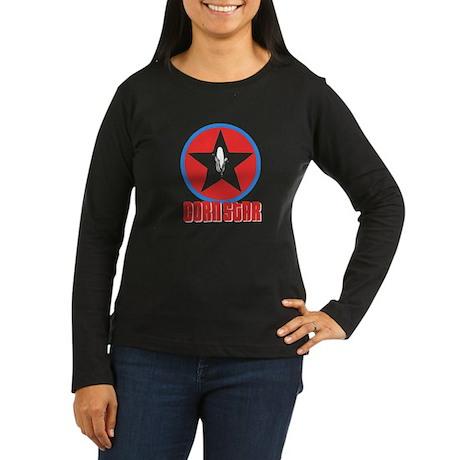 Corn Star Women's Long Sleeve Dark T-Shirt