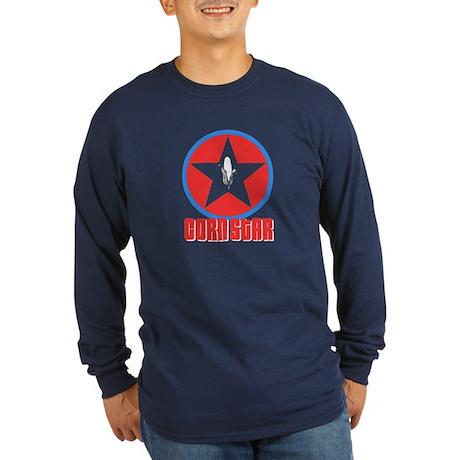 Corn Star Long Sleeve Dark T-Shirt