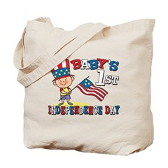 Baby's First Independence Day Tote Bag