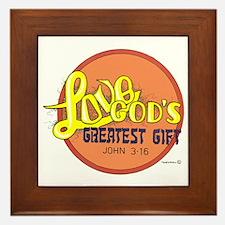 LOVE ... GOD'S GREATEST GIFT. Framed Tile