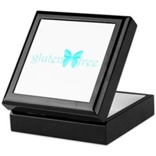 gluten-free butterfly (teal) Keepsake Box