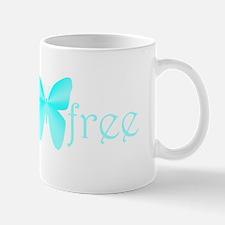 gluten-free butterfly (teal) Mug