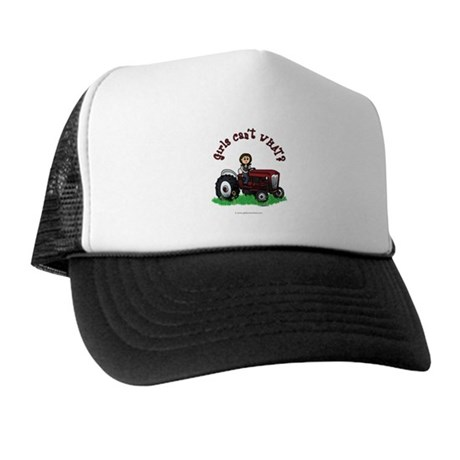 Light Red Farmer Trucker Hat