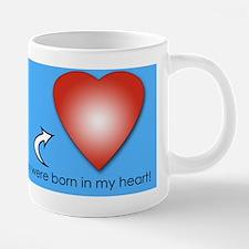 Cool Adoption blue 20 oz Ceramic Mega Mug