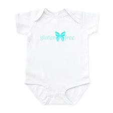 gluten-free butterfly (teal) Infant Bodysuit