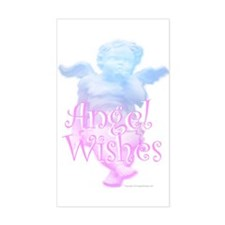 Angel Wishes Rectangle Decal