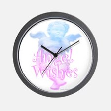 Angel Wishes Wall Clock