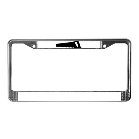 black saw License Plate Frame