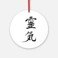 black reiki sign Ornament (Round)
