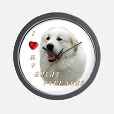 I Love My Great Pyrenees Wall Clock
