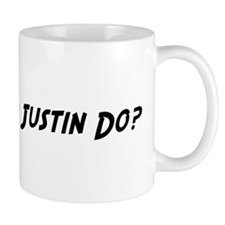 What would Justin do? Small Mugs