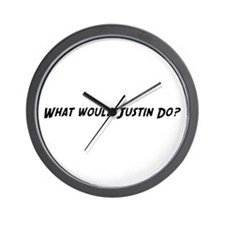 What would Justin do? Wall Clock