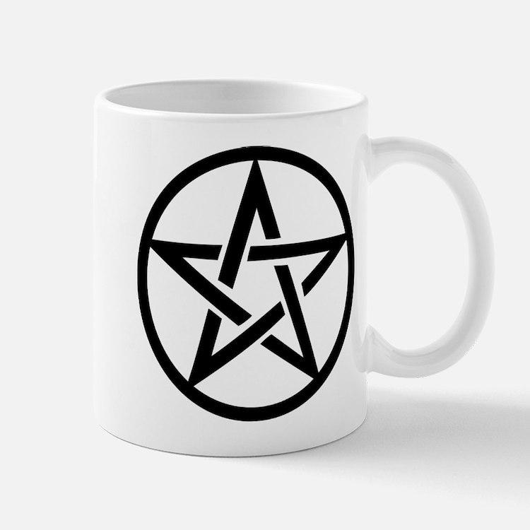 black gothic pentacle Mug