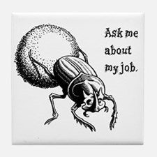 Dung Beetle Tile Coaster