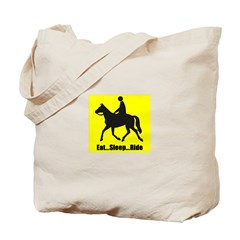 Eat sleep ride Tote Bag