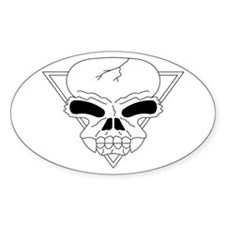Skull Oval Decal