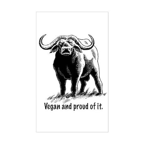 Proud Vegan Rectangle Sticker