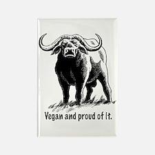 Proud Vegan Rectangle Magnet