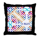 Infinity 8 Nights Throw Pillow