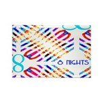 Infinity 8 Nights Rectangle Magnet