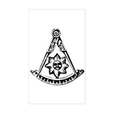 Past Master's Rectangle Decal