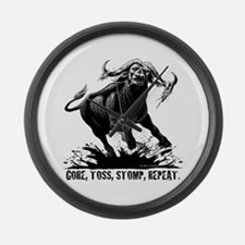 Cute Buffalo bulls Large Wall Clock