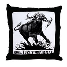 Cute Buffalo bulls Throw Pillow