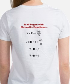 Scientific Blogging Maxwell's Equations Women's T