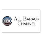 ABC - All Barack Channel Rectangle Sticker 10 pk)