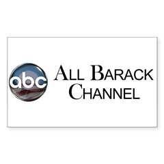 ABC - All Barack Channel Rectangle Sticker 10 pk)
