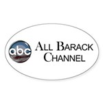 ABC - All Barack Channel Oval Sticker (10 pk)