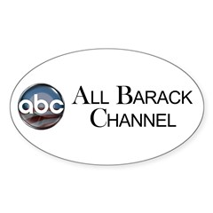 ABC - All Barack Channel Oval Decal