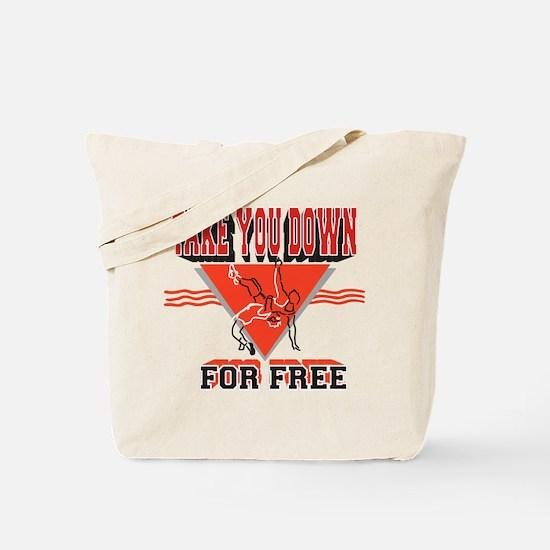 Funny Pro wrestling Tote Bag