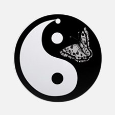 Butterfly Yin Yang Ornament (Round)