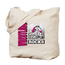 Wrestling Rocks Tote Bag