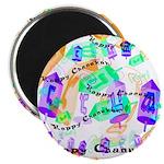 Dreidels Happy Chanukah Magnet