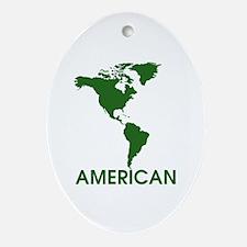 Cute American citizen Oval Ornament