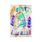 Dreidels Happy Chanukah Rectangle Magnet (10 pack)